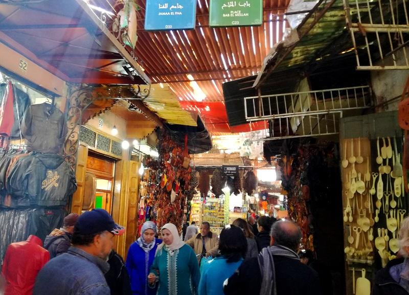 Maroko, Marakeš bazar