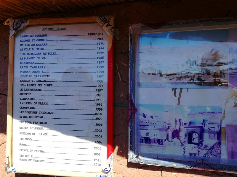 Spisak filmova snimljenih u ksaru Ait-Ben-Haddou