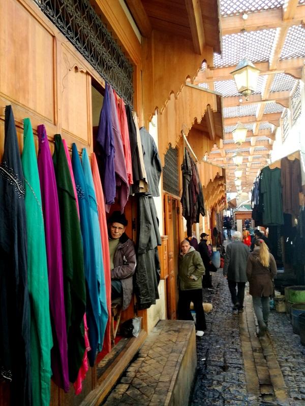Farbanje tekstila, Fes Maroko