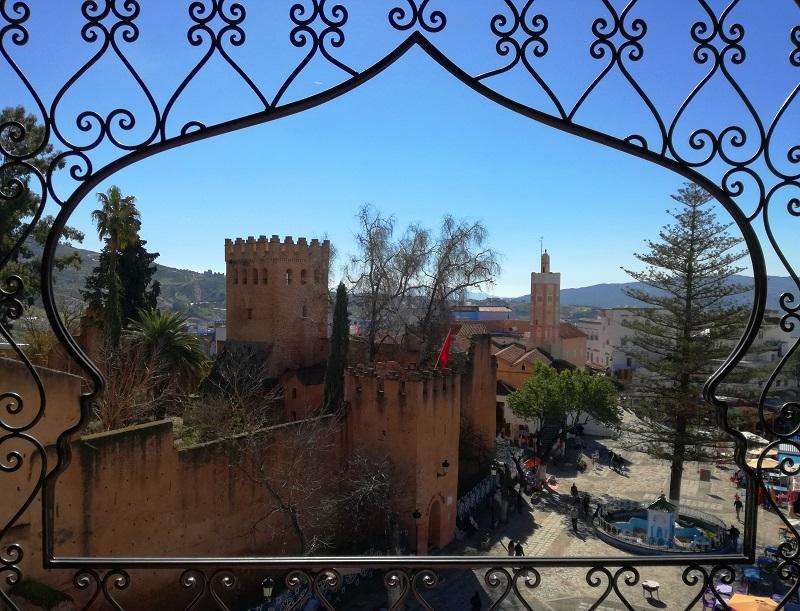 Šefšauen kazba Maroko Plavi grad
